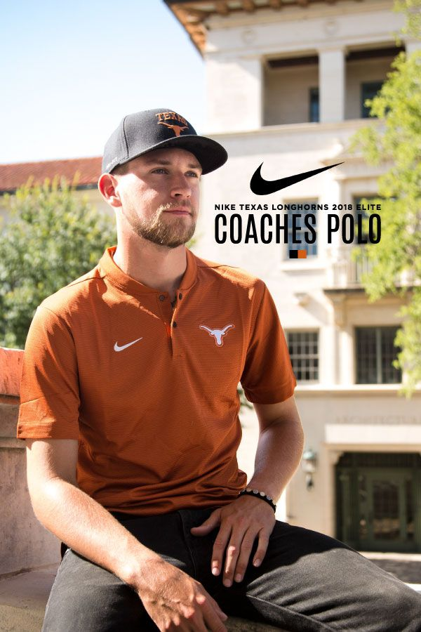 b174b0699 It's time to gear up for Longhorn football! The 2018 Elite Coaches Polo is  updated with a blade collar to modernize the sideline coaching staff look.