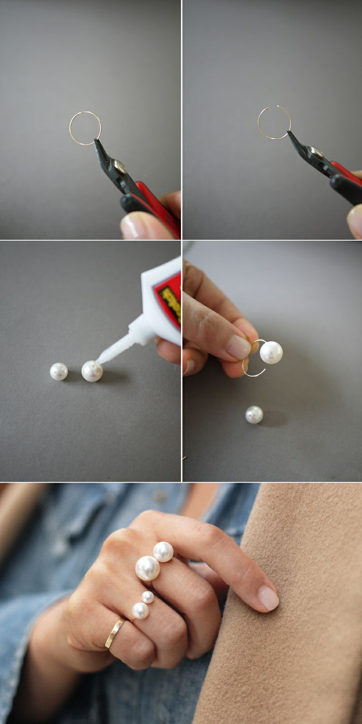 DIY double pearl ring•Love DIY projects so fun and a great thing to do when your bored