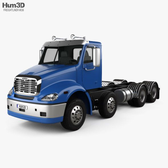 Freightliner Columbia Chassis Truck 4 Axle 2018 Fully Customizable 3d Model Of A Truck 3d 3dmodel 3ddesign Truck Vr Ar 2017 2025 American Chassis Co