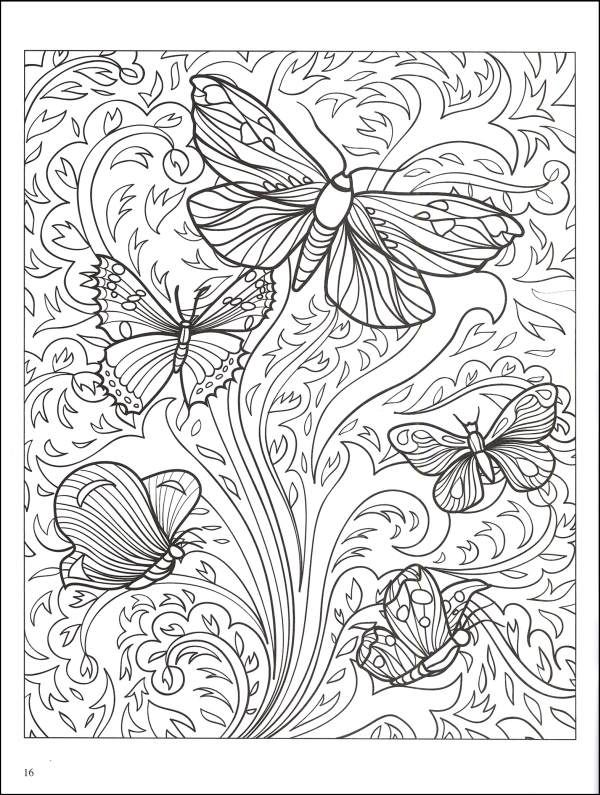abstract coloring pages beautiful butterfly - Advanced Coloring Pages Butterfly