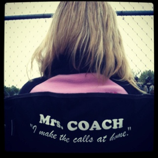 My new chair :) #baseball #coach #newlywed