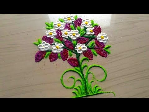 2 minutes rangoli designs/easy,simple quick and small rangoli designs by jyoti Rathod - YouTube
