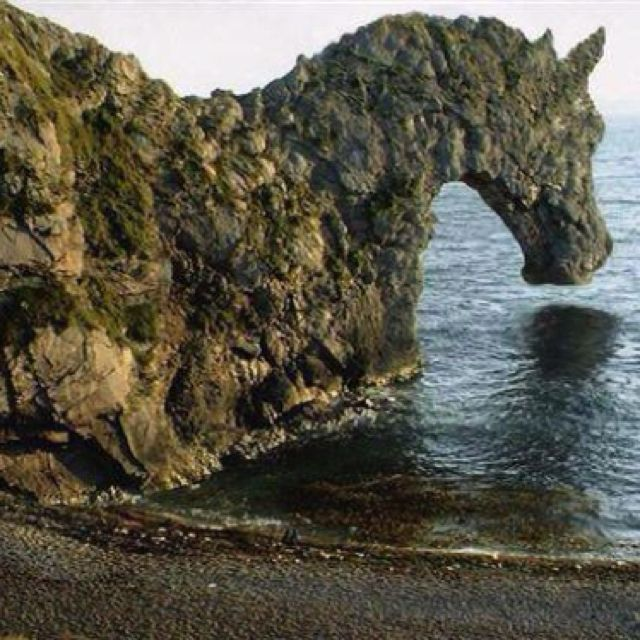 Rock in the shape of a horse