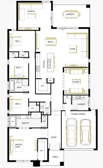 Dise o de casa de una planta con planos fachada con - Casa de una planta ...