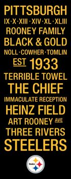 Pittsburgh Steelers Subway Art with Logo Picture at Pittsburgh Steelers Photo Store