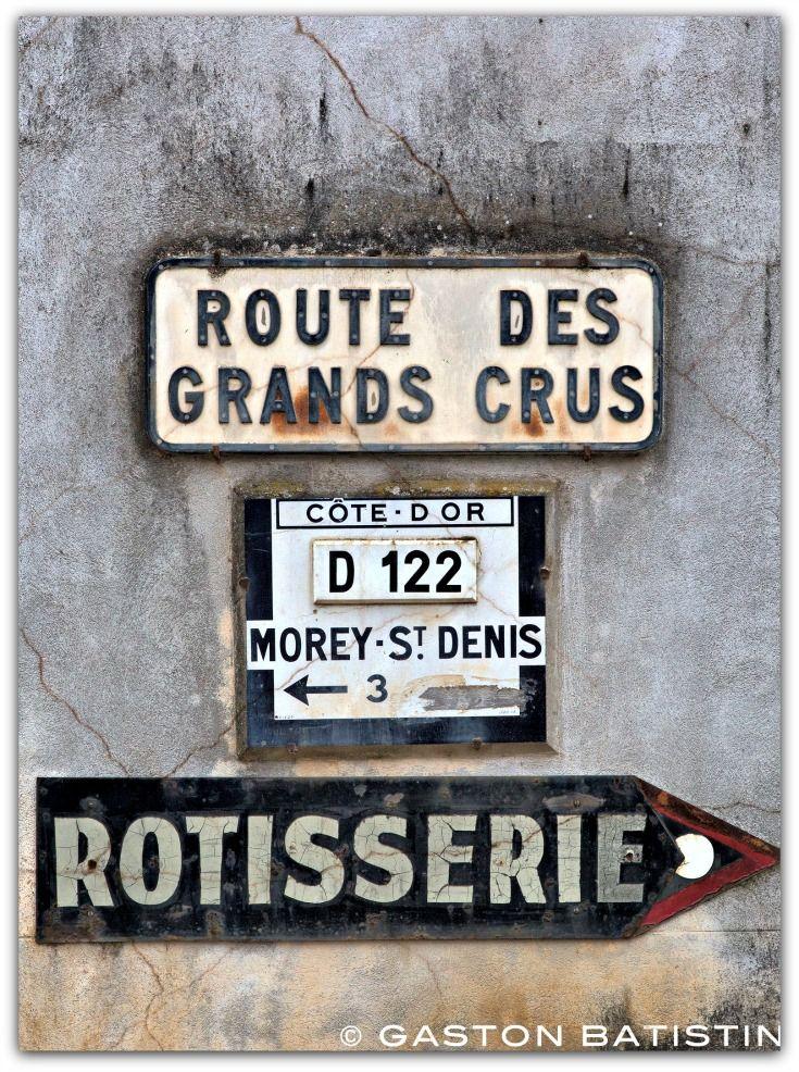 Route des grands crus, Cote-d'Or, Bourgogne, France