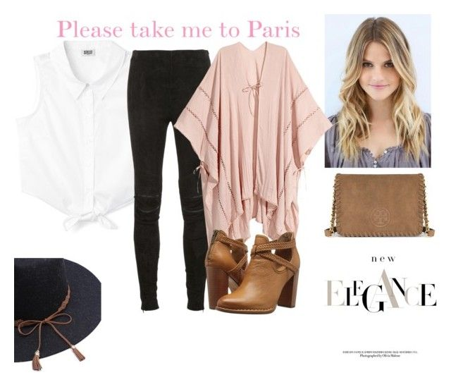 """""""Pink"""" by viviendodesilencios on Polyvore featuring moda, Yves Saint Laurent, Frye y Tory Burch"""