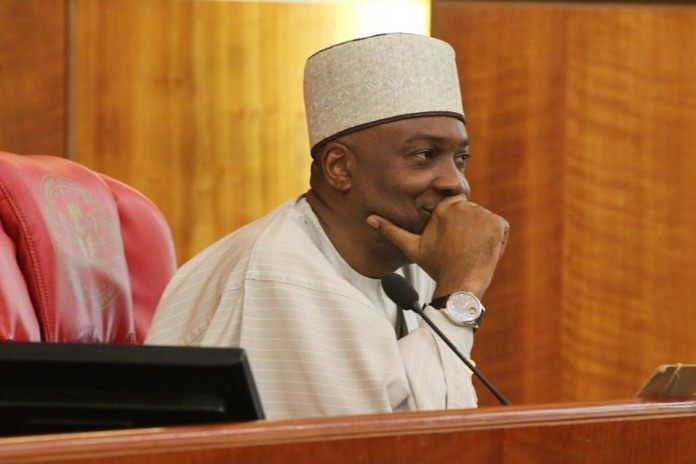 """Attempt by Senators to Make Saraki Acting President Ruled """"Out of Order"""" _________ There was a mild drama in the senateon TuesdayafterEnyinnaya Abaribe,a Peoples Democratic Party (PDP) senator from Abia State, said there was a vacuum in government becauseActing President Yemi Osinbajowas not in the country. __________ Osinbajo, who did a day trip to theAfrican Union summit in Addis Ababa, Ethiopia, has been the President in acting capacity since President Muhammadu Buhari left for…"""
