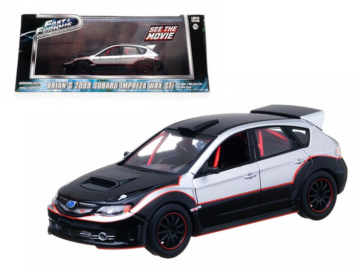 """Brian's 2009 Subaru Impreza WRX STi """"The Fast and The Furious"""" Movie (2009 ) 1/43 Diecast Car Model by Greenlight - Rubber tires. Brand new box. Limited Edition. Detailed interior, exterior. Comes in plastic display showcase. Dimensions approximately L-5 inches long.-Weight: 1. Height: 5. Width: 9. Box Weight: 1. Box Width: 9. Box Height: 5. Box Depth: 5"""