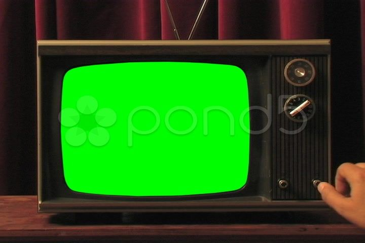 Changing Channels On Old Tv With Green Screen Stock Footage Ad Tv Channels Green Changing Old Tv Greenscreen Stock Video