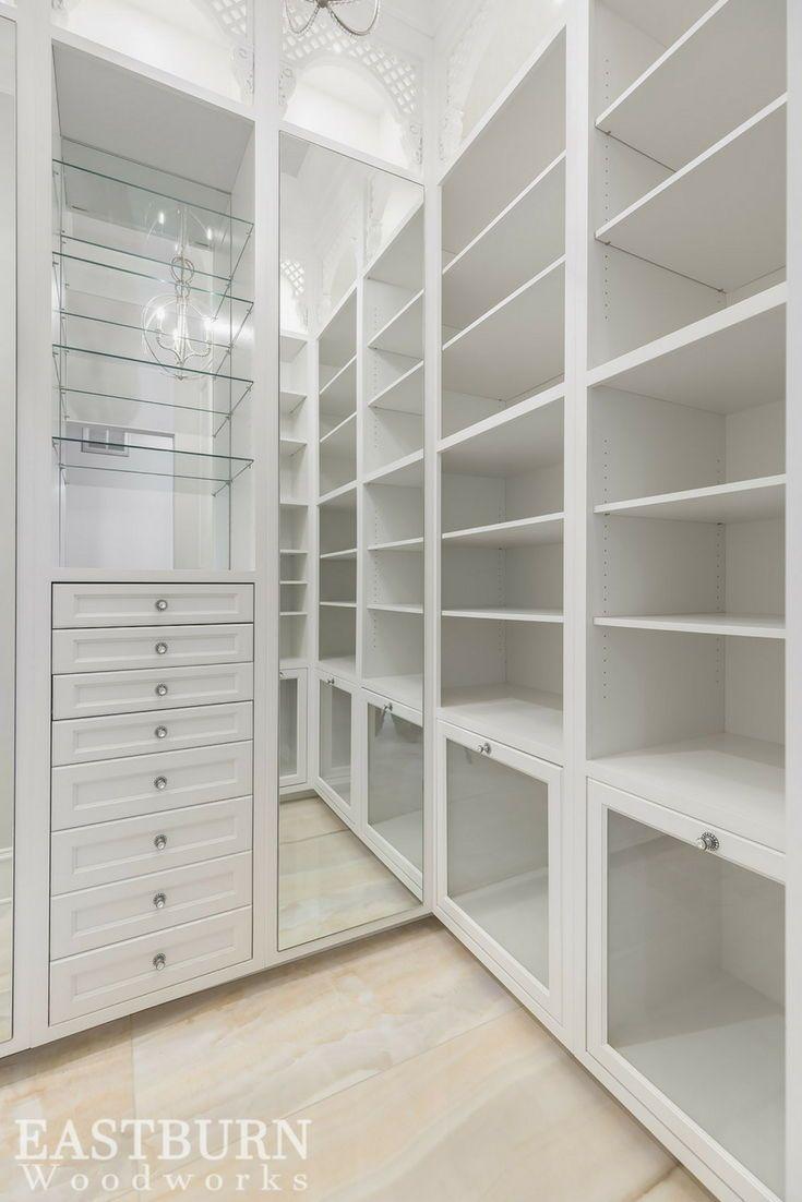 Custom Built Closet With Glass Boot Drawers And Adjustable Shelving Build A Closet Bedroom Closet Design Shelves