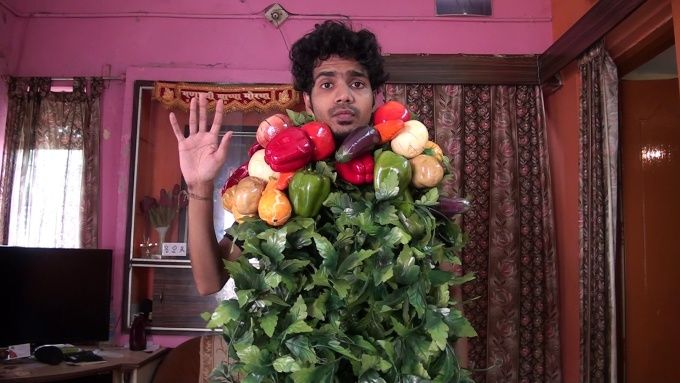 say whatever you want with my vegetable man costume by varun_karkhanis