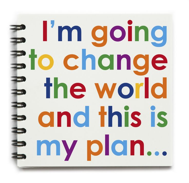 I'm Going to Change the World and This is my Plan