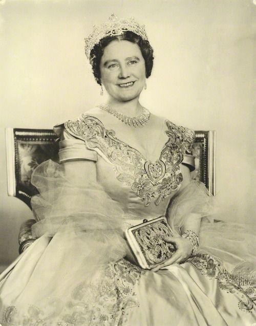 House of Windsor:  Queen Elizabeth, the Queen Mother by Dorothy Wilding  bromide print, 1954