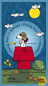 Snoopy Flying Ace: Panel (2/3 yard) - Quilting Treasures 24010b