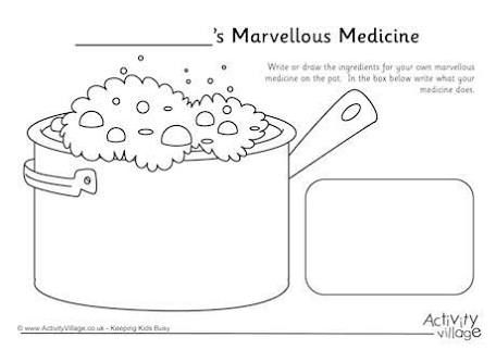 George's Marvellous Medicine - Children write ingredients for their own medicine!