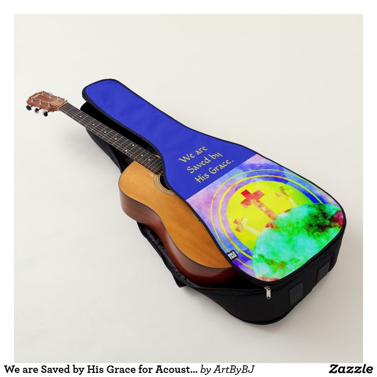 We are Saved by His Grace for Acoustic or Electric Guitar Case. . . New Range of Guitar Cases specially designed for Church bands and musicians, or any Christian singing praises to God. . . . Some with a Decorative Cross, others with Bible verses,  IHS logo's and more. . . . So whether you are playing music for Church Bands or Gospel singing groups, you'll find a  case for your Acoustic Guitar or your Electric Guitar.  . . . . . Visit to see them all - you'll find AT LEAST one you really…