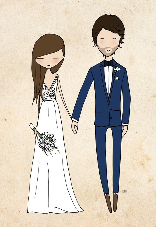 Custo made wedding portrait by Blanka Biernat