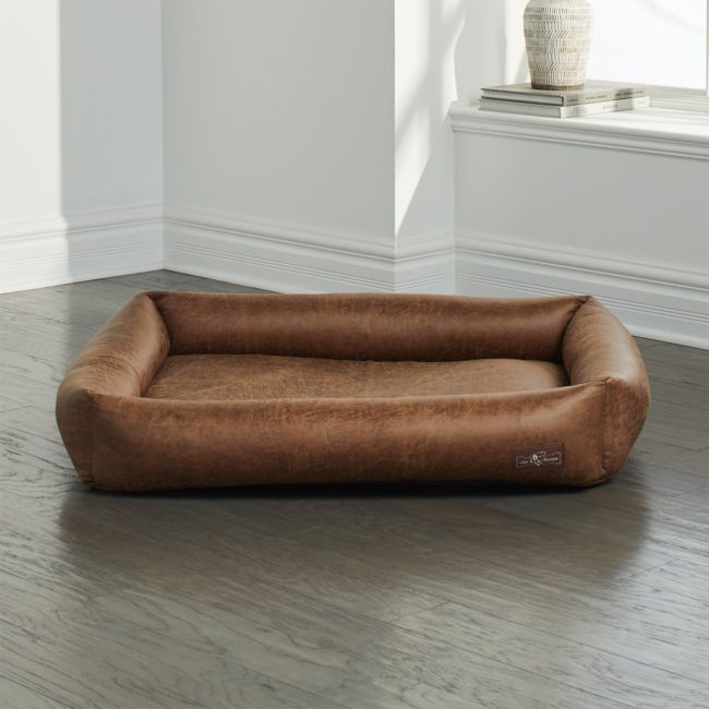 Cuddler Faux Leather Vintage Microfoam Large Dog Bed Crate And Barrel Dog Bed Faux Leather Dog Bed Dog Bed Large