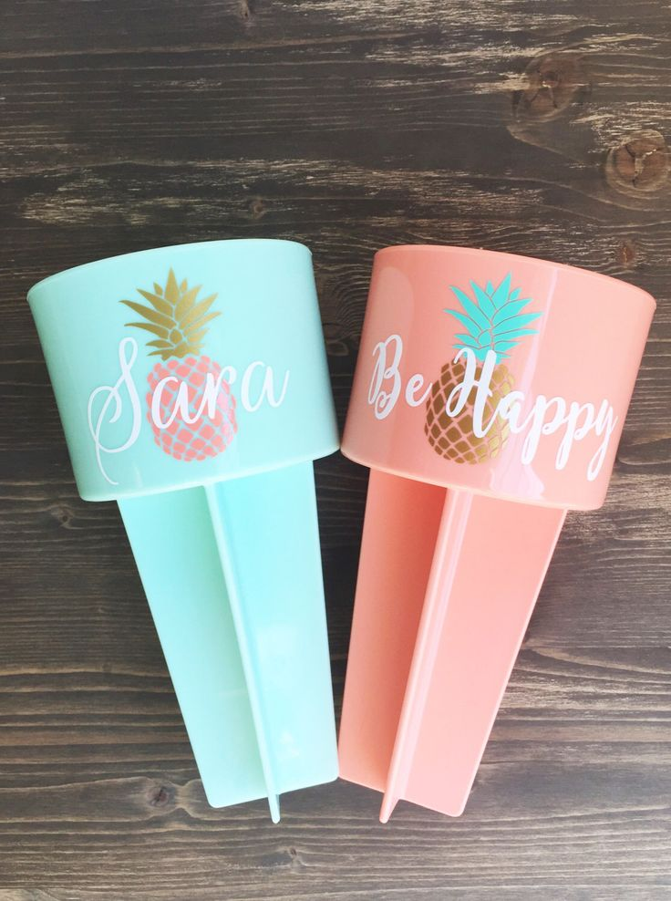 Personalized Pineapple Beach Spiker by LGLCustomGifts on Etsy https://www.etsy.com/listing/464952556/personalized-pineapple-beach-spiker
