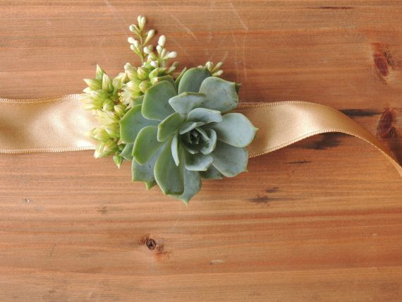 Wrist Corsage-small by SucculentlyUrban on Etsy