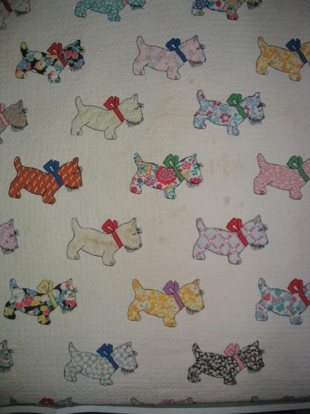 Vintage Scotty Quilt Neen Would Love This Scottie Dogs