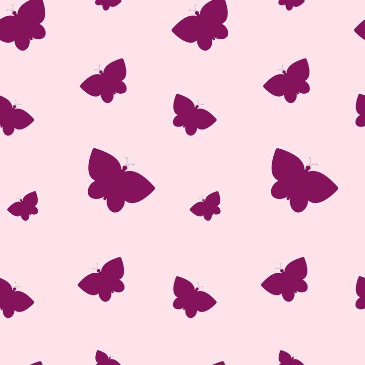 Lila fjärilar tapet | Fototapet | Rosa | Fjäril | Mönster