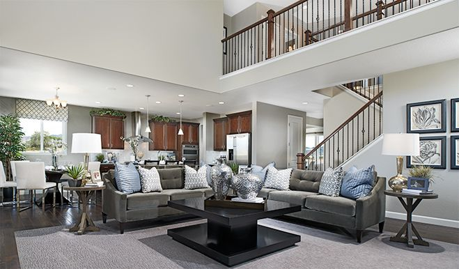 This Two Story Great Room Serves As A Tasteful Convenient