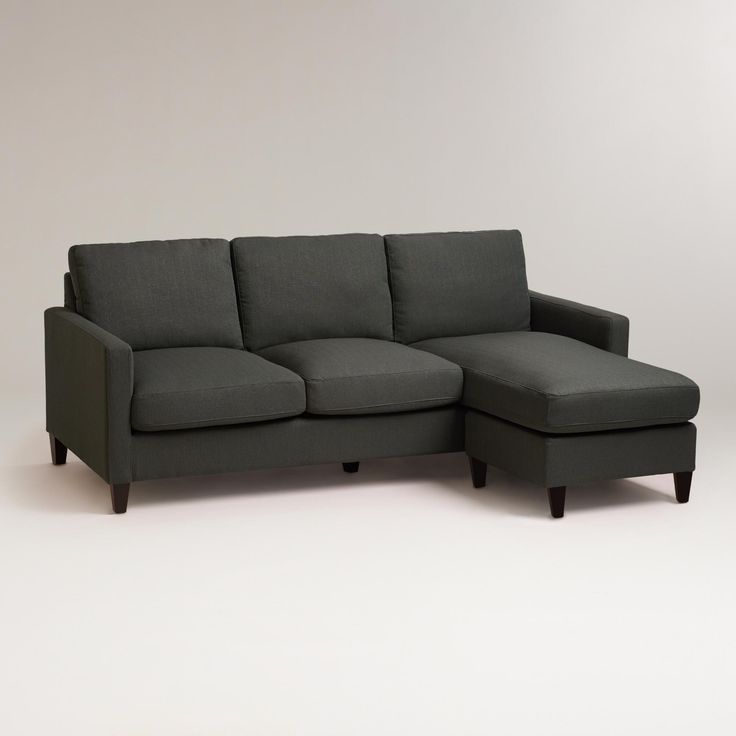 Our Charcoal Abbott Sofa comes with a chaise frame that can be positioned on…