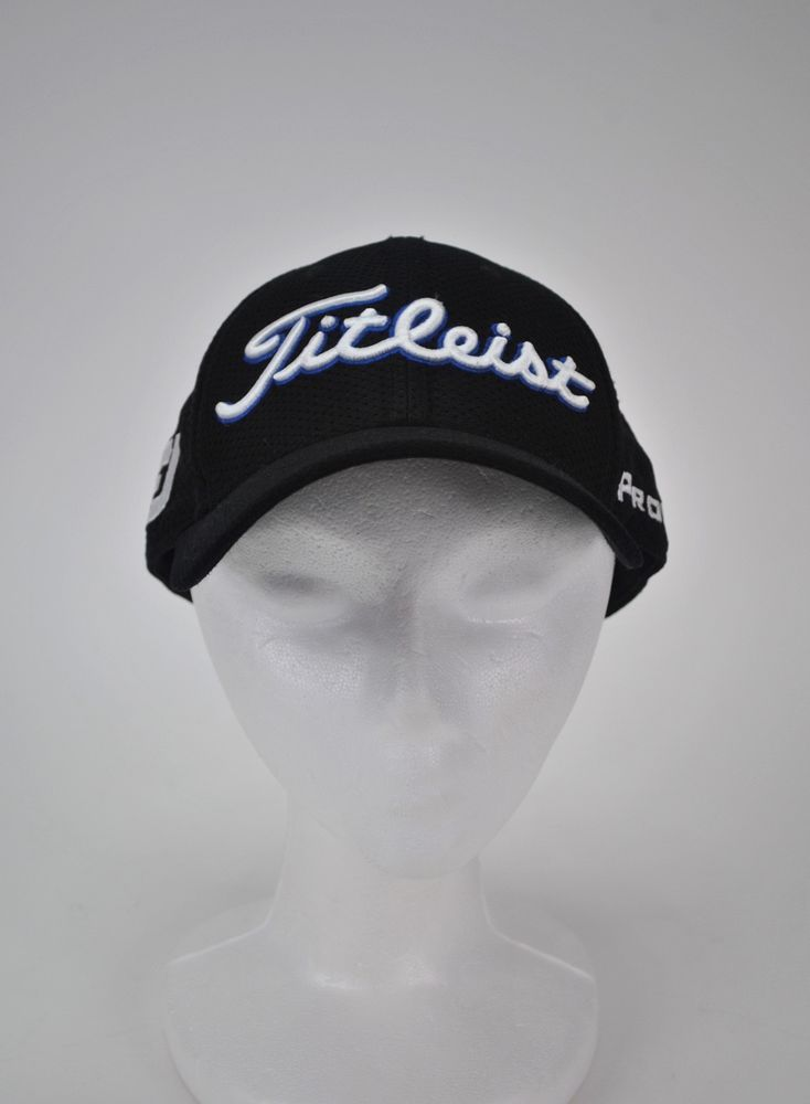 2ded53dd972 Titleist Golf PRO V1 FJ Hat Black Embroidered Baseball Cap PGA True Fit  Flex L X  Titleist  BaseballCap