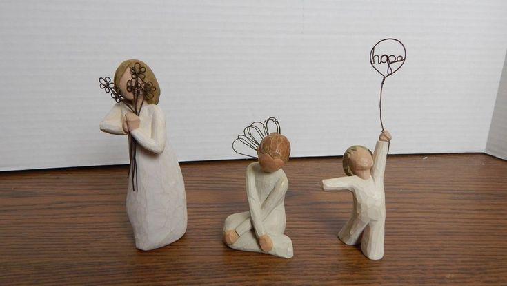 VTG DemDaco Willow Tree Friendship, Hope, & Serenity Angel Figurines