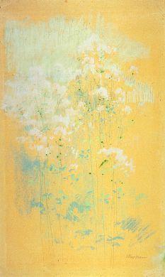 Wild Flowers, n.d., John Henry Twachtman, pastel, 19 x 11 1/2 in. (48.3 x 29.2 cm), Smithsonian American Art, Museum Gift of John Gellatly, 1929.6.146