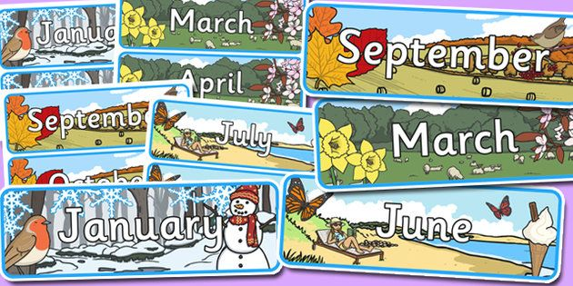 Months Of The Year Seasons Posters Month Year Season - Imagez co
