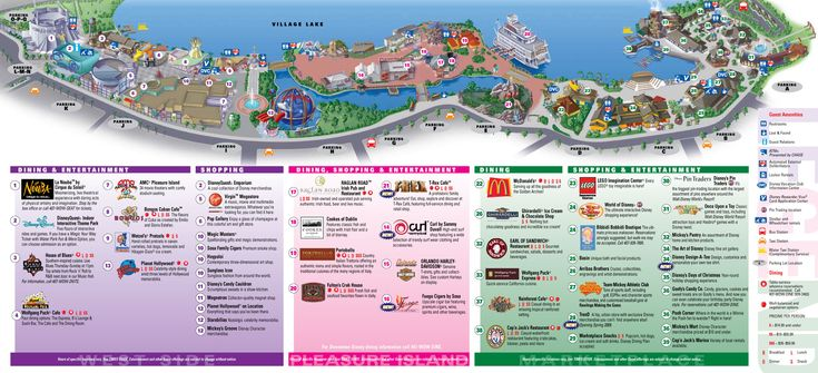 Downtown Disney Map. We'll be spending a few hours here.