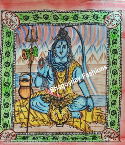 MMendiation Indian God Shiva Mandala Tapestry,Bedspread,Hippie,Wall Hanging,Thro