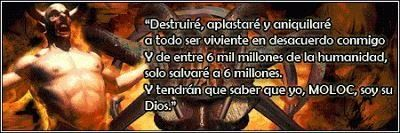 SEMANARIO BALUN CANAN: El pasado oscuro de Jehova- El demonio Moloc