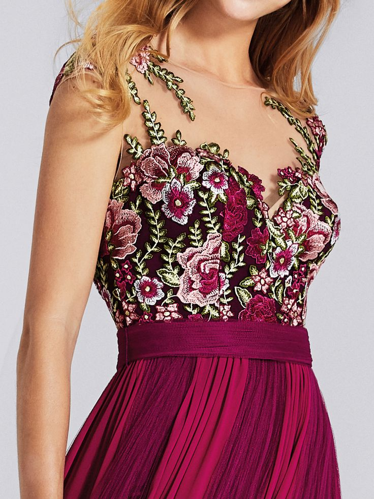 Colorful evening gown