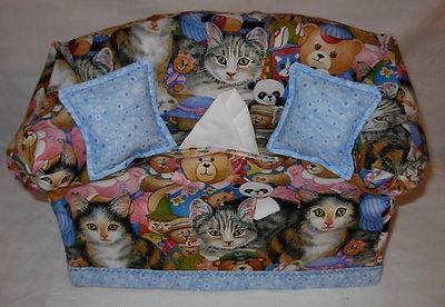 Couch Sofa Tissue Box Cover Cute Cats and Friends | eBay