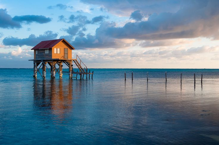 This home on the Ocean in Ambergris Caye, Belize. | 19 Beautifully Isolated Places Where You Can Finally Get Some Peace And Quiet