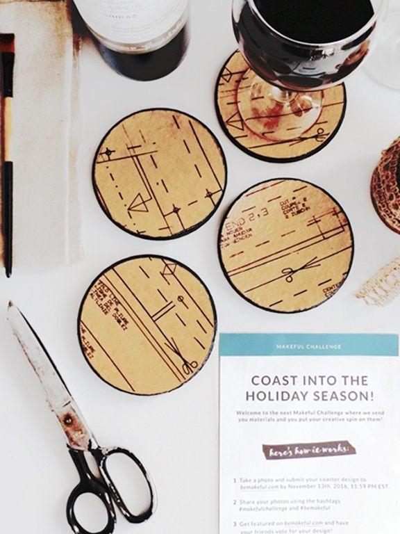 DIY Vintage Sewing Pattern Coasters