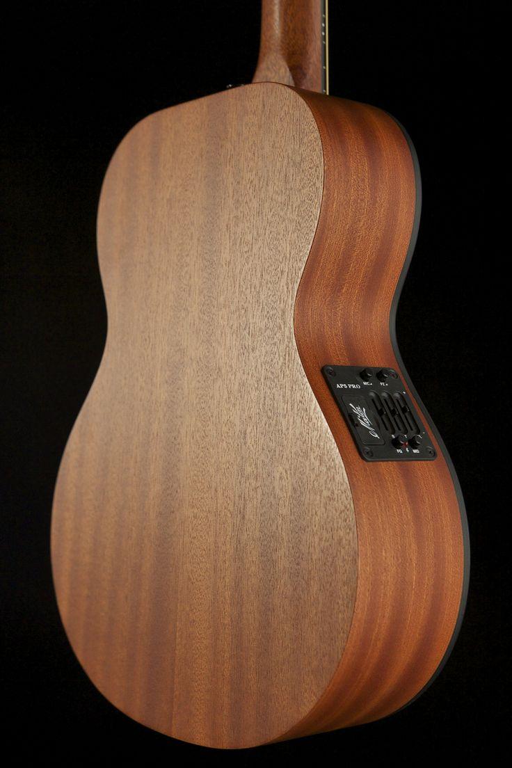 Australian, Handmade, Acoustic Mahogany Mini from Maton Guitars. Back View.