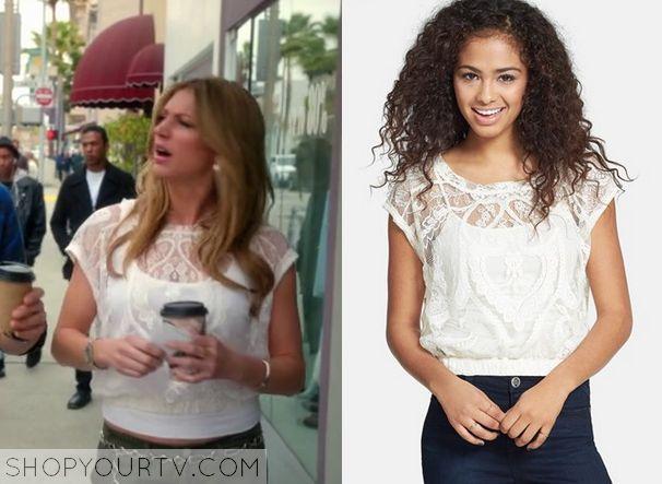 Mistresses: Season 2 Episode 1 Josslyn's White Lace Crop Top - ShopYourTv
