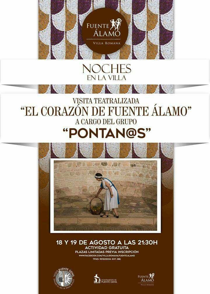 Visitas teatralizadas: El Corazón de Fuente Álamo. 18 y 19 de agosto a las 21:30 horas #PuenteGenil Os esperamos