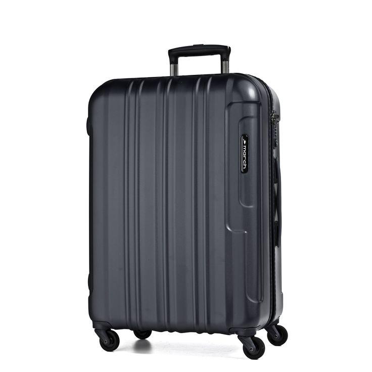 Mittelgroßer #Koffer March15 Cosmopolitan  bei Koffermarkt: ✓leicht ✓Polycarbonat-Hartschale ✓4 Rollen ✓schwarz  ⇒Jetzt kaufen