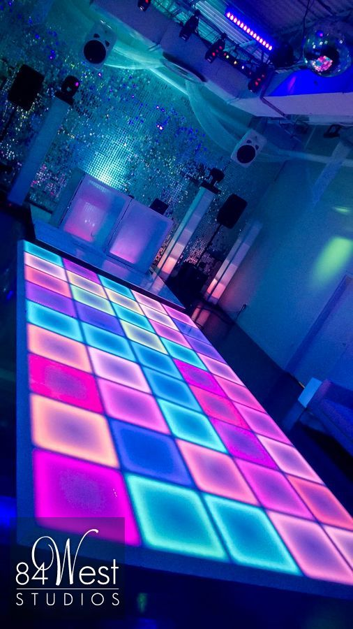 LED Dance Floor @ 84 WEST STUDIOS South Florida Events