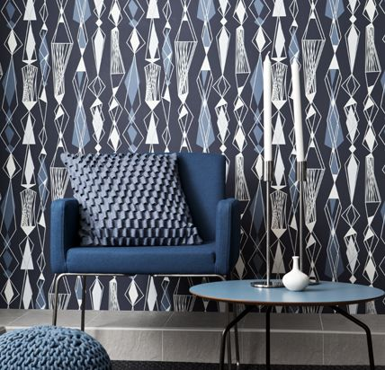 Graphic retro revival pattern from Eco Wallpaper