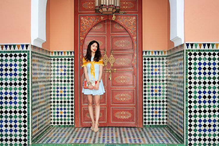 #Throwback to Marrakech at the amazing La Mamounia resort <3 You can shop our Moroccan collection at: http://be-snazzy.com/collection/morocco