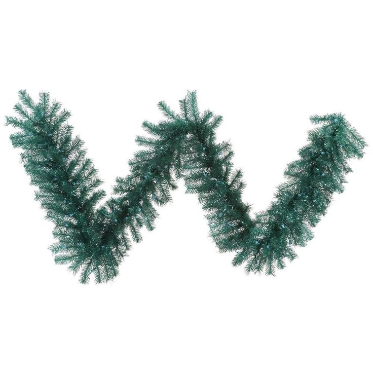 Vickerman Aqua Tinsel Garland with 240 Tips