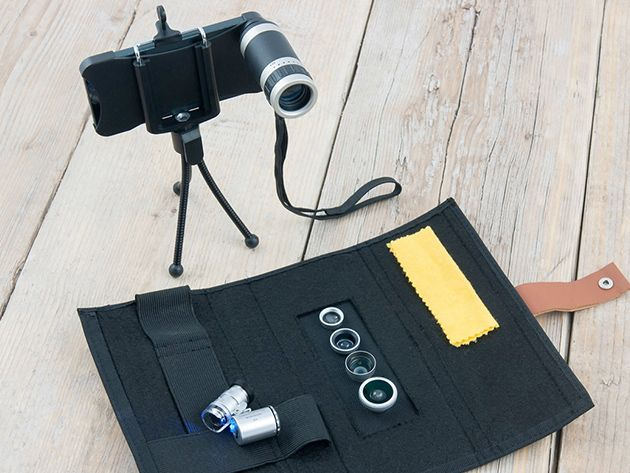 Power up your iPhone camera with this 6-piece lens kit.