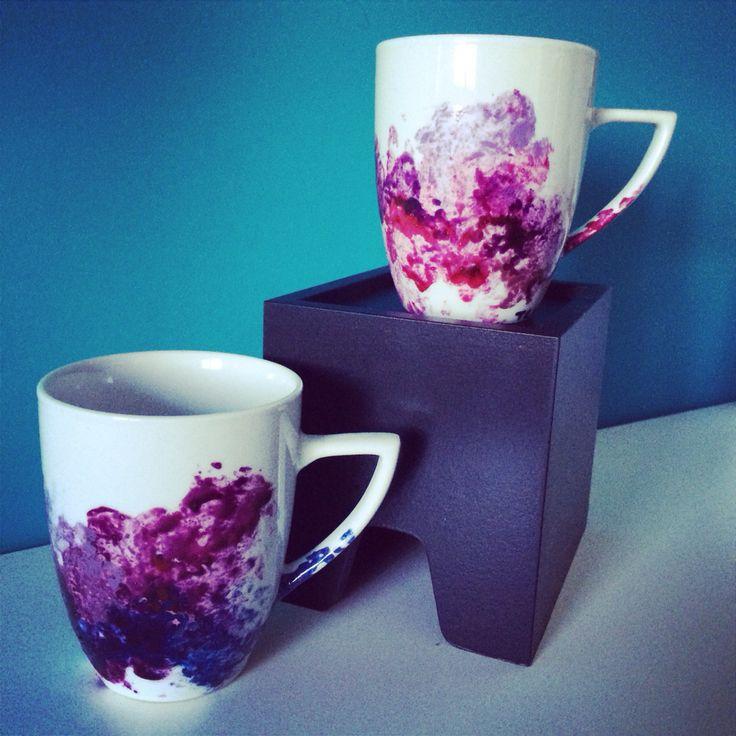Handmade-tazze in ceramica dipinte a mano con colori appositi _tania cher
